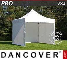 Faltzelt FleXtents PRO 3x3m Weiß, mit 4 wänden