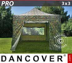 Faltzelt FleXtents PRO 3x3m Camouflage, mit 4 wänden