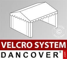 Dachplane mit Klettverschluss für Plus-Partyzelt 5x6m, Weiß
