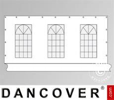 Seitenwand mit Fenster für Partyzelt PLUS 6m, Weiß