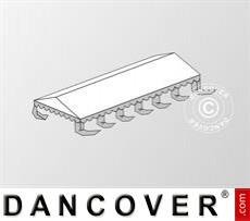 Dachplane für das Partyzelt Exclusive 5x12m PVC, Weiß / Grau