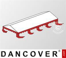 Dachplane für das Partyzelt Original 6x8m PVC, Weiß / Rot