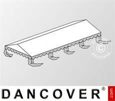 Dachplane für das Partyzelt Original 4x8m PVC, Weiß / Grau