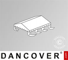 Dachplane für das Partyzelt Original 5x6m PVC, Weiß