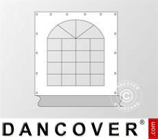 Seitenwand mit Fenster für Partyzelt Exclusive, Weiß / Grau
