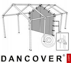 8 m (2,3) PVC-Mittelwand mit Reißverschluss für Partyzelt SEMI PRO