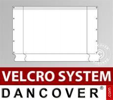 Giebelwand Semi Pro Combi 8m mit breiter Tür, Weiß
