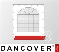 Seitenwand mit Fenster für Partyzelt Exclusive, Weiß / Rot