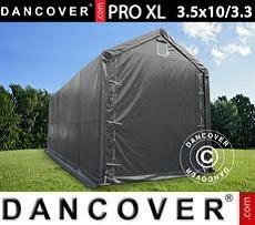 Lagerzelt PRO XL 3,5x10x3,3x3,94m, PVC, Grau