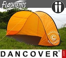 Strandzelt, FlashTents®, 2 Personen, Orange/Dunkelgrau