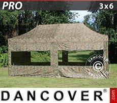 Faltzelt FleXtents PRO 3x6m Camouflage, mit 6 Wänden