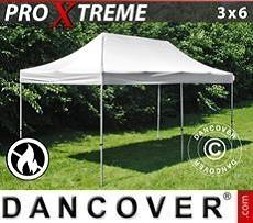 Faltzelt FleXtents Xtreme 3x6m Weiß, Flammenhemmend
