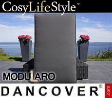 Kissenbezüge für rechteckige Fußbank für Modularo, schwarz
