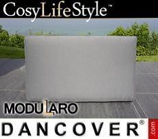 Kissenbezüge für rechteckige Fußbank für Modularo, grau