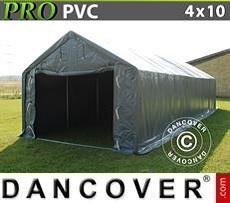 Lagerzelt PRO 4x10x2x3,1m, PVC, Grau
