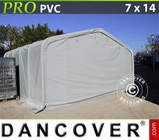 Lagerzelt PRO 7x14x3,8m PVC, Grau