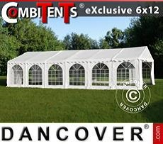 Partyzelt, Exclusive CombiTents® 6x12m 4-in-1, Weiß