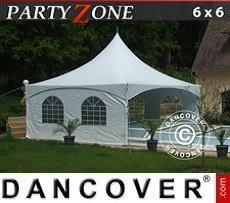 Partyzelte Pagodenzelt PartyZone 6x6 m aus PVC