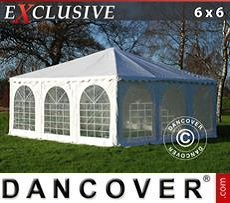 Partyzelte Pagodenzelt Exclusive 6x6m PVC, Weiß