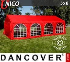 Partyzelt UNICO 5x8m, Rot