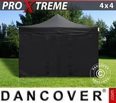 Faltzelt FleXtents Xtreme 4x4m Schwarz, mit 4 Wänden