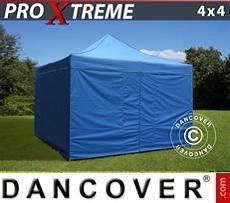 Faltzelt FleXtents Xtreme 4x4m Blau, inkl. 4 Wänden