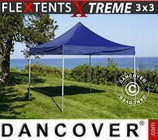 Faltzelt FleXtents Xtreme 3x3m Dunkeblau