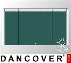 Giebelwand UNICO 3m mit schmaler Tür, Dunkelgrün