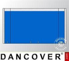 Giebelwand UNICO 5m mit breiter Tür, Blau