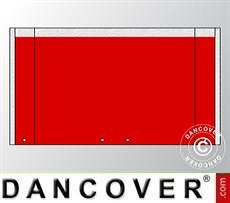 Giebelwand UNICO 4m mit breiter Tür, Rot
