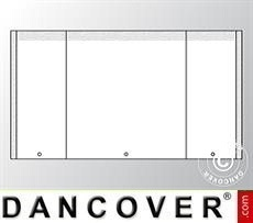 Giebelwand UNICO 4m mit schmaler Tür, Weiß