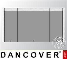 Giebelwand UNICO 4m mit schmaler Tür, Dunkelgrau