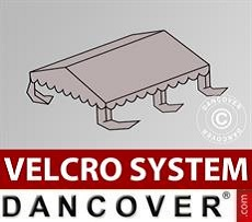 Dachplane für Partyzelt UNICO, PVC/Polyester, 4x4m, sandfarben
