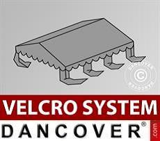 Dachplane für Partyzelt UNICO, PVC/Polyester, 4x6m, dunkelgrau