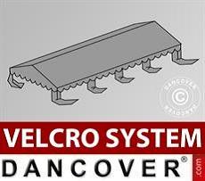 Dachplane für Partyzelt UNICO, PVC/Polyester, 4x8m, dunkelgrau