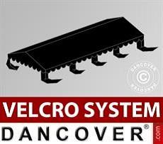 Dachplane für Partyzelt UNICO, PVC/Polyester, 5x8m, schwarz