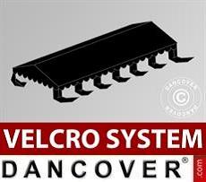 Dachplane für Partyzelt UNICO, PVC/Polyester, 6x12m, schwarz