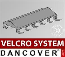 Dachplane für Partyzelt UNICO, PVC/Polyester, 5x10m, dunkelgrau