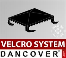 Dachplane für Partyzelt UNICO, PVC/Polyester, 3x3m, schwarz