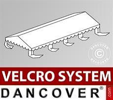 Dachplane für Partyzelt UNICO, PVC/Polyester, 5x8m, weiß