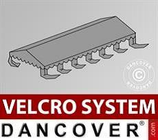 Dachplane für Partyzelt UNICO, PVC/Polyester, 6x12m, dunkelgrau