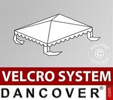 Dachplane für Partyzelt UNICO, PVC/Polyester, 3x3m, weiß