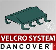 Dachplane für Partyzelt UNICO, PVC/Polyester, 3x6m, dunkelgrün