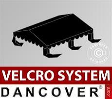 Dachplane für Partyzelt UNICO, PVC/Polyester, 4x4m, schwarz