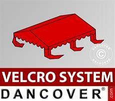 Dachplane für Partyzelt UNICO, PVC/Polyester, 4x4m, rot