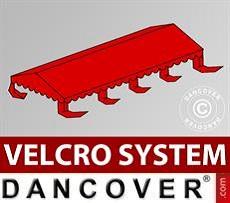 Dachplane für Partyzelt UNICO, PVC/Polyester, 4x8m, rot