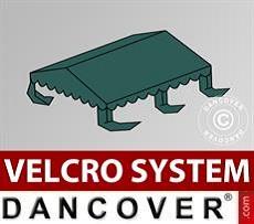 Dachplane für Partyzelt UNICO, PVC/Polyester, 4x4m, dunkelgrün