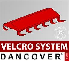 Dachplane für Partyzelt UNICO, PVC/Polyester, 5x10m, rot