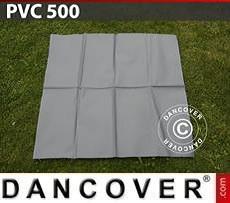 Ersatz-PVC für Lagerzelt, 500g/m², 1x1m, grau