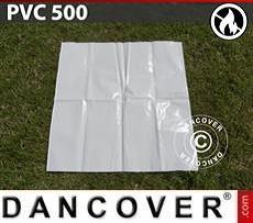 Ersatz-PVC für flammhemmende Partyzelte, 500g/m², 1x1m, weiß